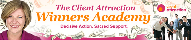Client Attraction Winners Academy banner