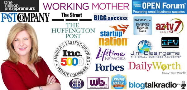 media logos - Forbes, Lifetime Networks, About.com, Women in Business 2.0, ITV, Bigg Success Story, Fast Company, Investors Business Daily